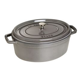 Staub Cast Iron, 7-qt Oval Cocotte - Graphite Grey