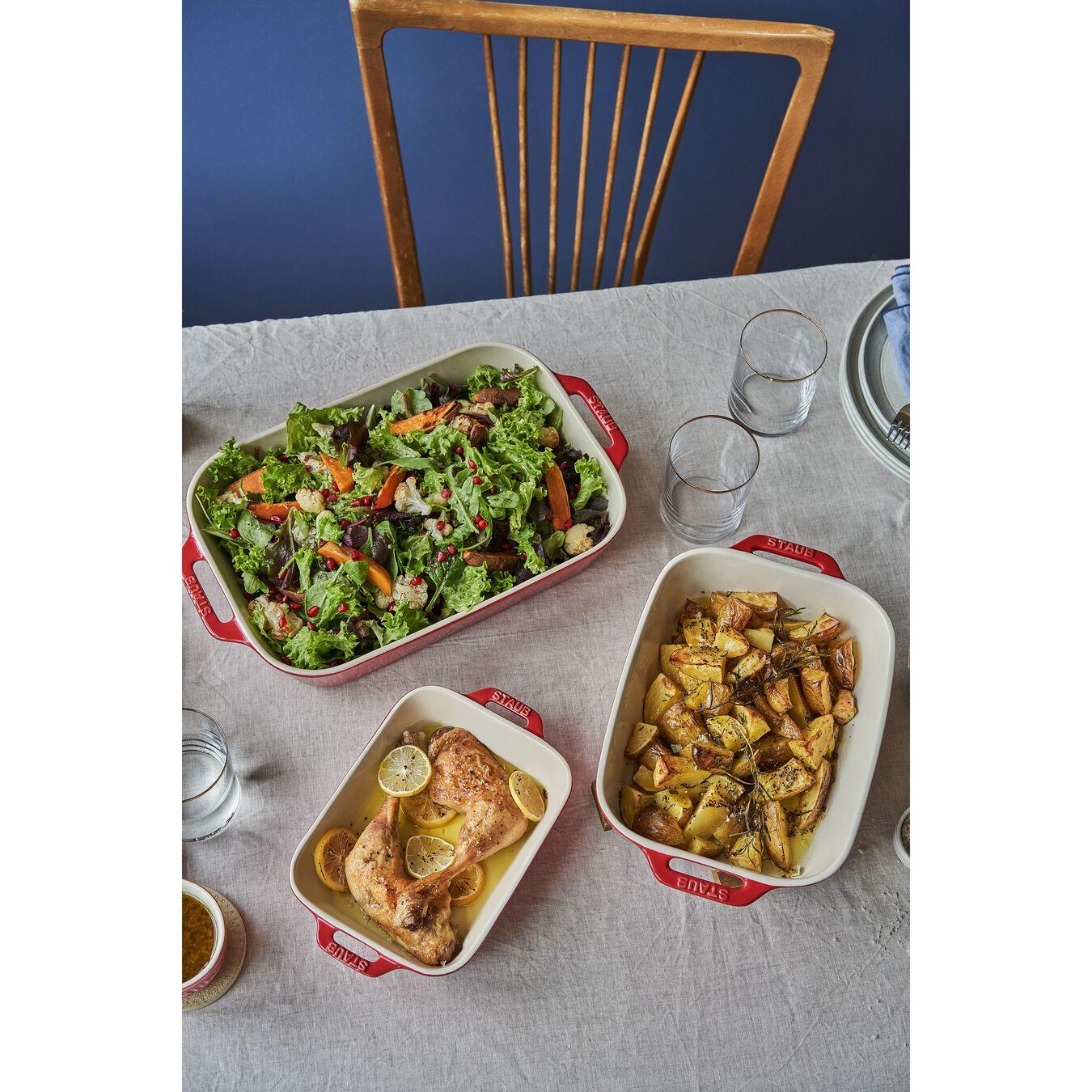 Ceramic rectangular Special shape bakeware, cherry,,large 4