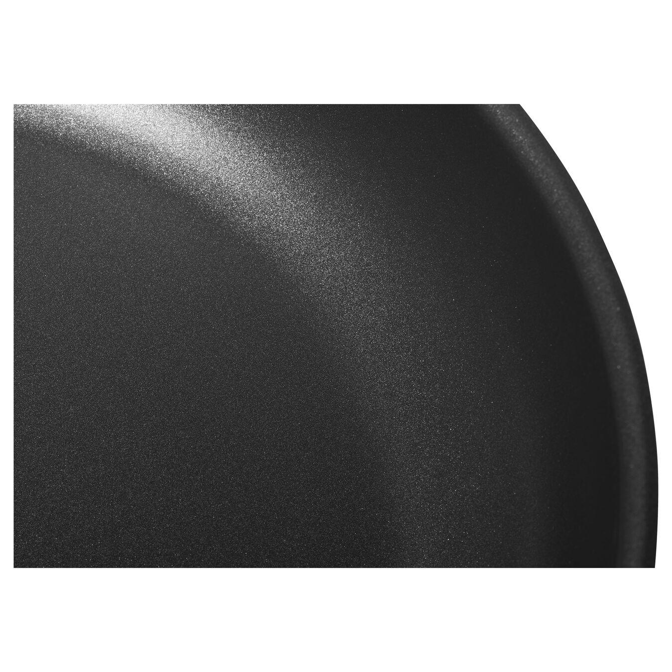 Poêle 28 cm, Acier inoxydable, Noir argenté,,large 2