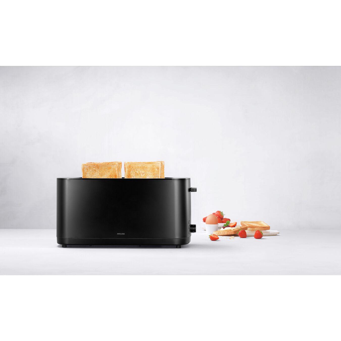 Toaster, 2 Schlitze lang, Schwarz,,large 4