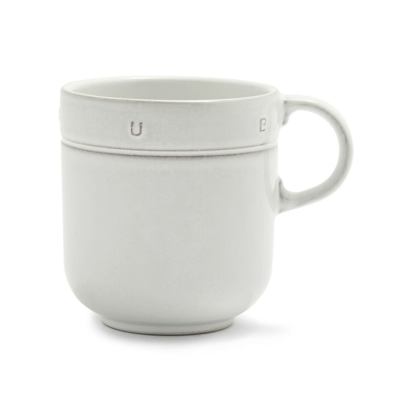 0.5 qt, Ceramic, Mug, off-white,,large 1