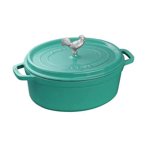 6-qt Cocotte, Turquoise,,large