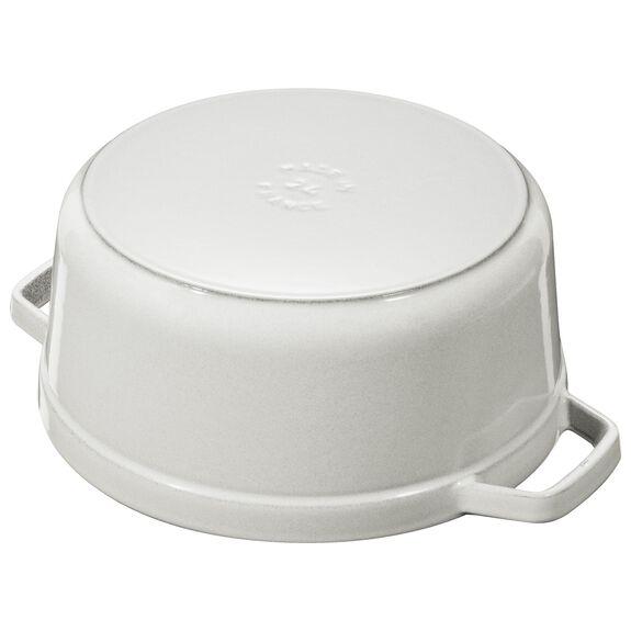 7.25-qt-/-28-cm round Cocotte, White Truffle,,large 4