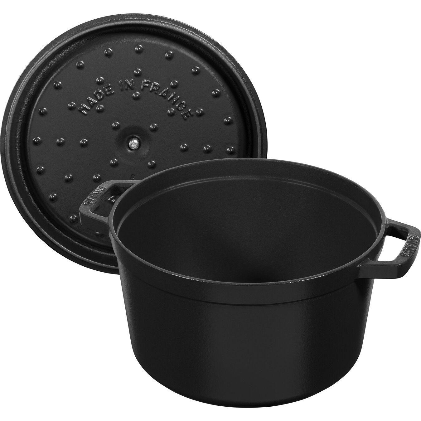 Cocotte 24 cm, Rond(e), Noir, Fonte,,large 5