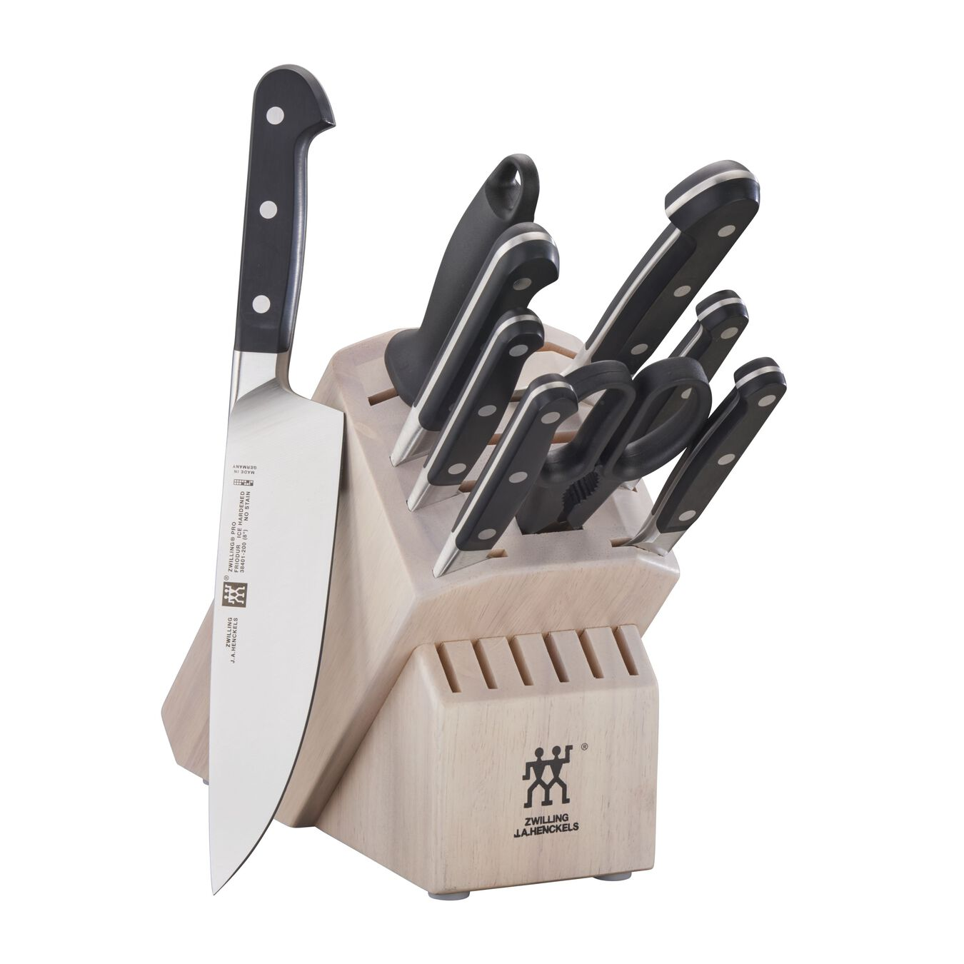 10-pc Knife Block Set - White,,large 1
