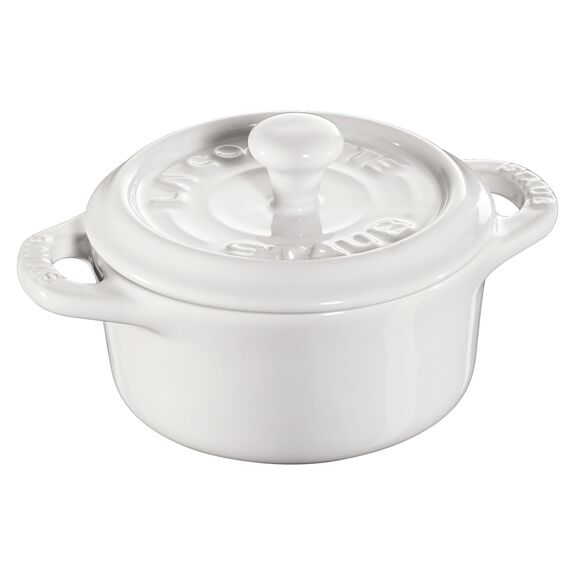 3-pc round Cocotte set, White,,large