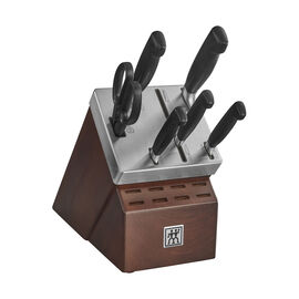 ZWILLING Four Star, 7-pc, Knife block set, silver-black