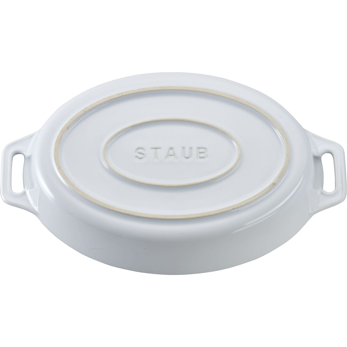 9-inch, oval, Baking Dish, white,,large 2