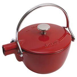 Staub Cast Iron, 1.25 qt, round, Tea pot, cherry