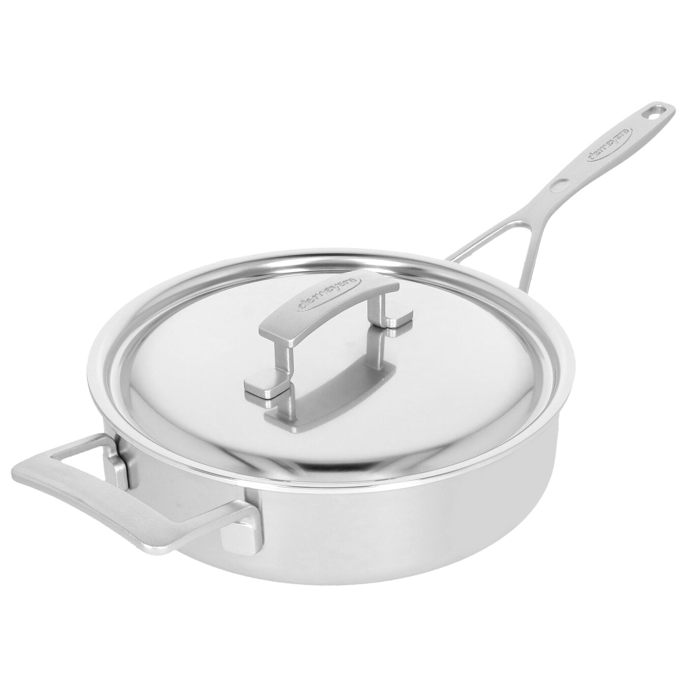 9.5-inch Saute pan with lid, 18/10 Stainless Steel ,,large 3