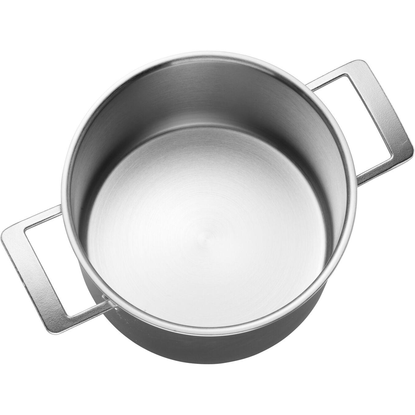 Pentola con coperchio - 24 cm, acciaio,,large 5