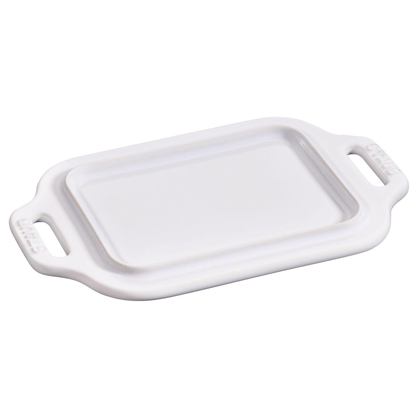 Piattino da burro quadrato - 19 cm, bianco puro,,large 2