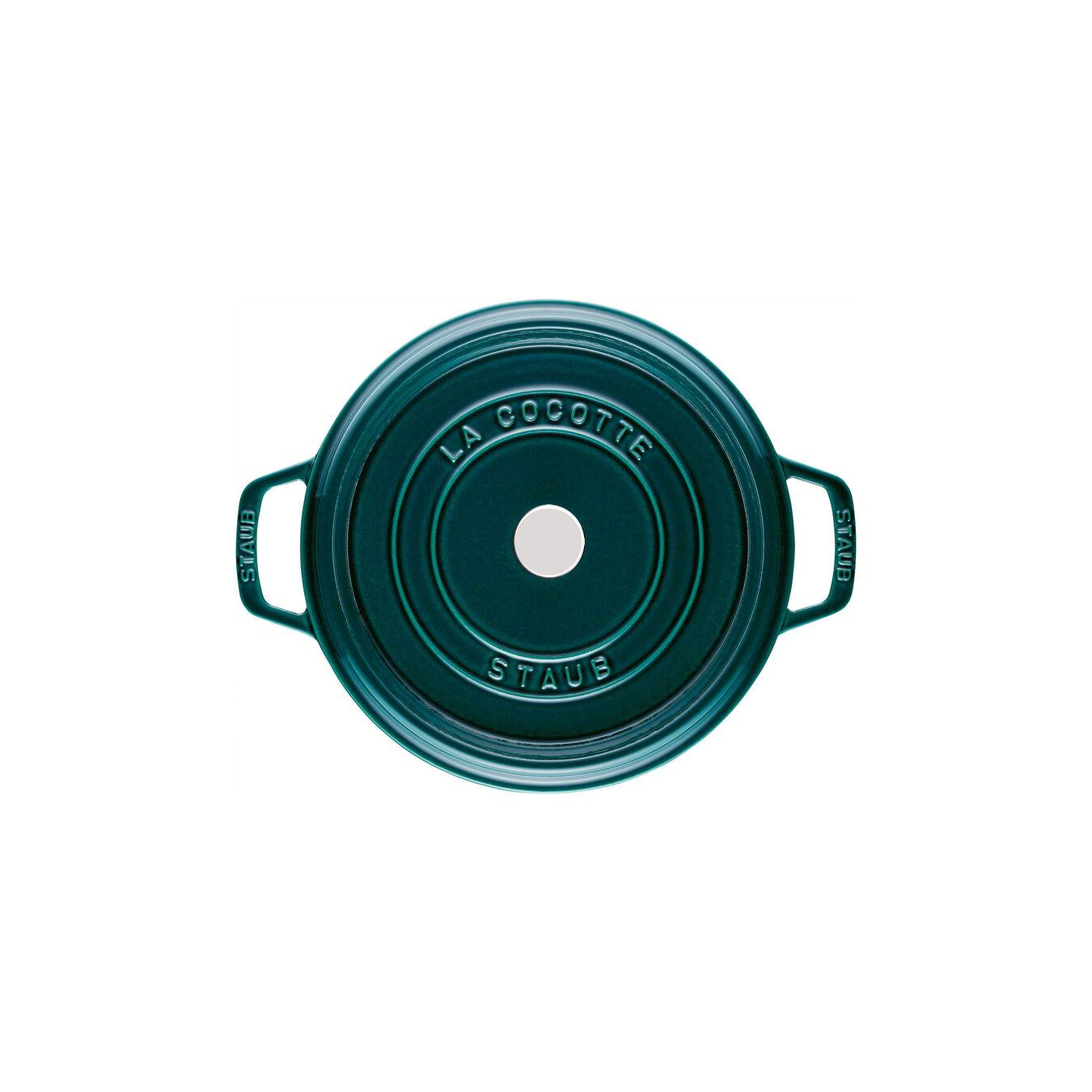 Cocotte en fonte 28 cm / 6,75 l, Rond, Blue La-Mer,,large 6