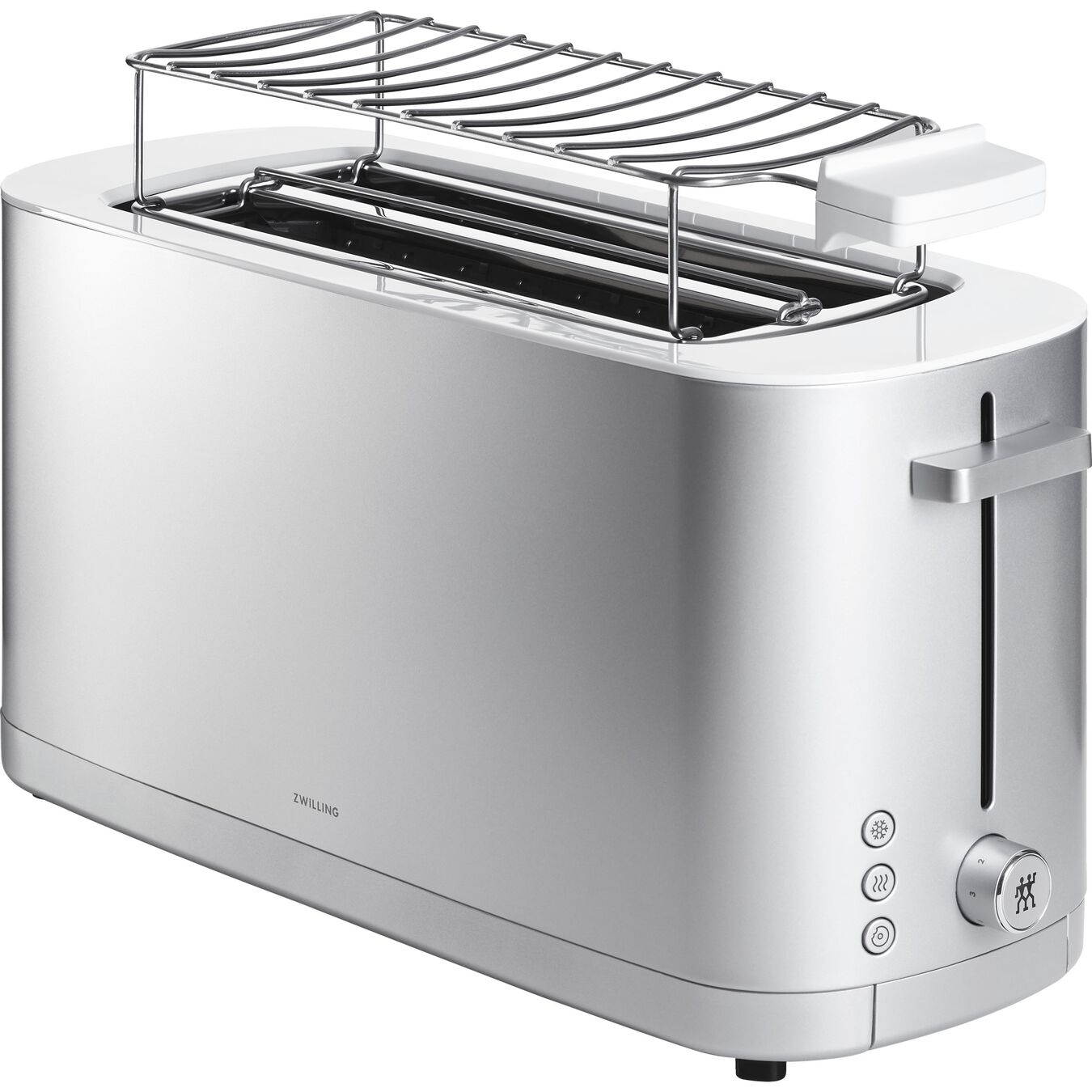 Toaster mit Brötchenaufsatz, 2 Schlitze lang, Silber,,large 8