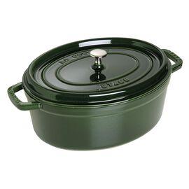 Staub Cast iron, 6-qt-/-31-cm oval Cocotte, Basil-Green
