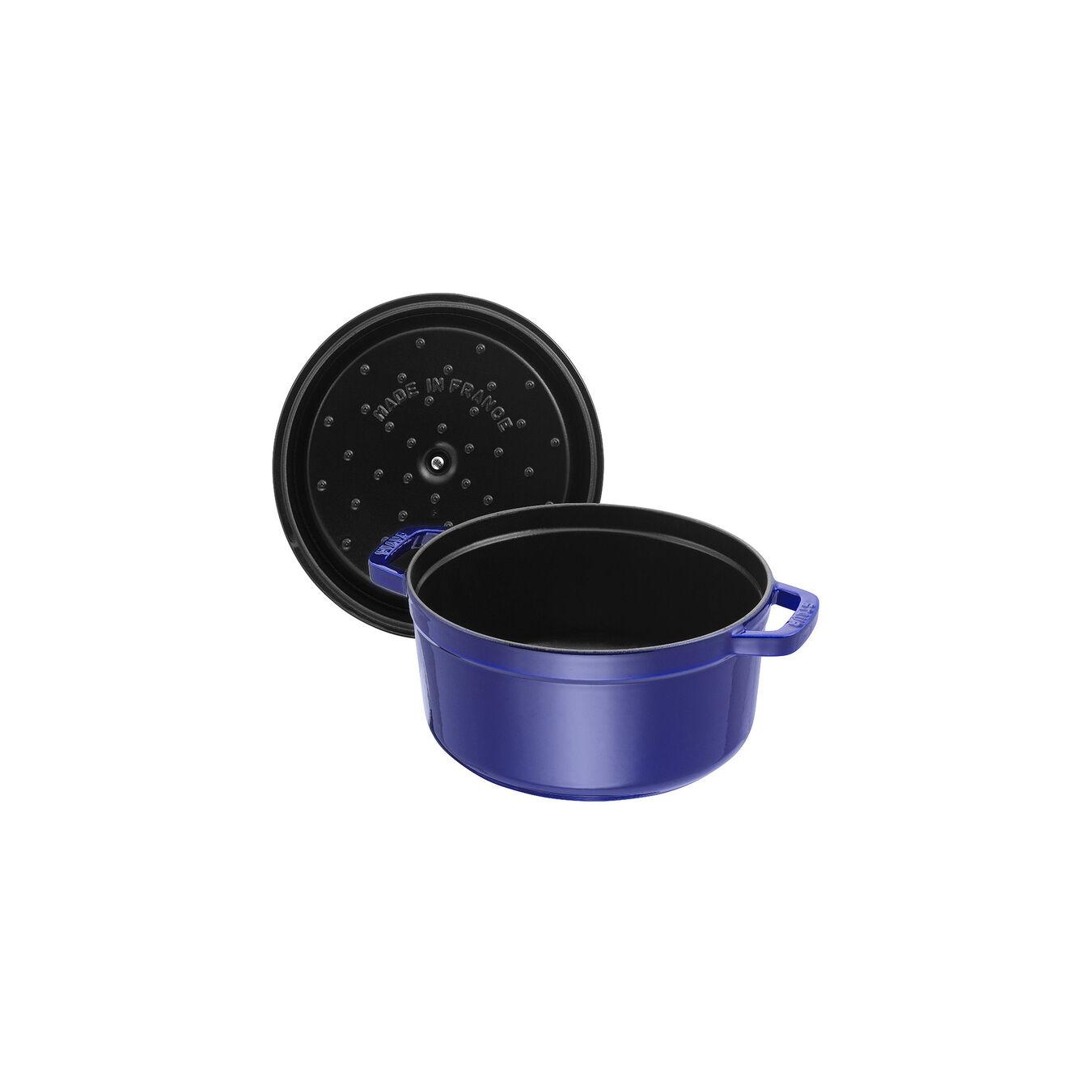 Cocotte rotonda - 22 cm, blu scuro,,large 4