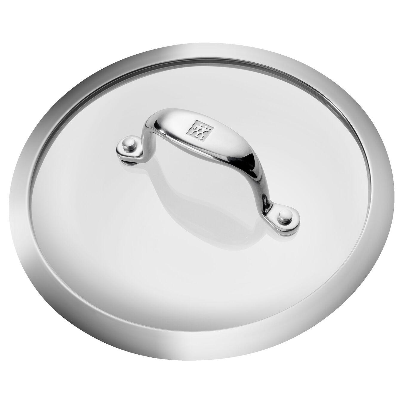 Aluminum round Casserole, Silver-Black,,large 4