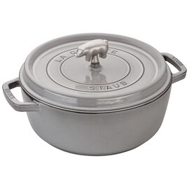 Staub Cast Iron, 6-qt round Cocotte, Graphite Grey
