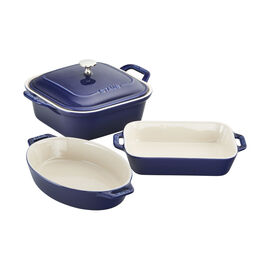 Staub Ceramics, 4-pc Baking Dish Set - Dark Blue