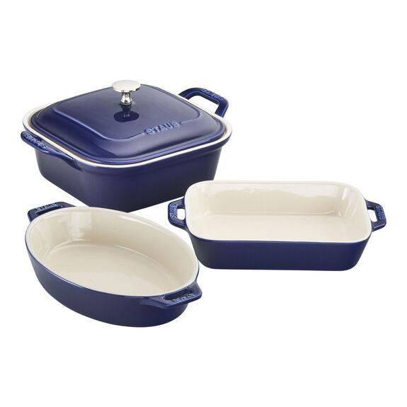 4-pc Baking Dish Set - Dark Blue,,large