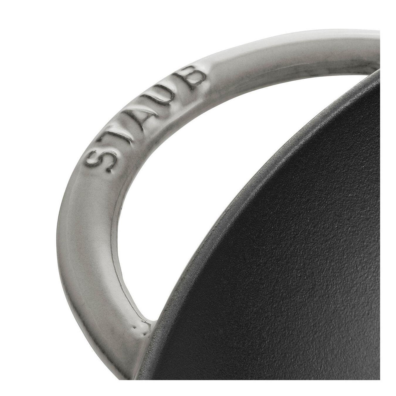 Wok Tava Cam Kapaklı | döküm demir | Grafit Gri | 37 cm,,large 3