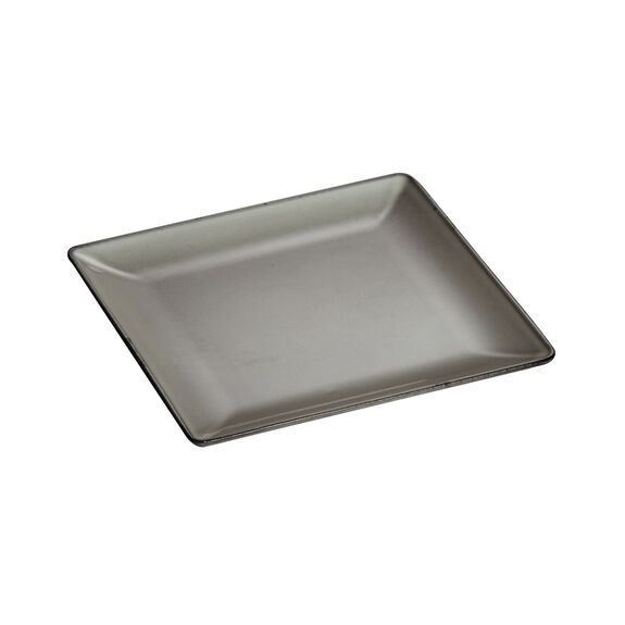 9 3/8-inch Square Dinner Plate - Graphite Grey,,large 3