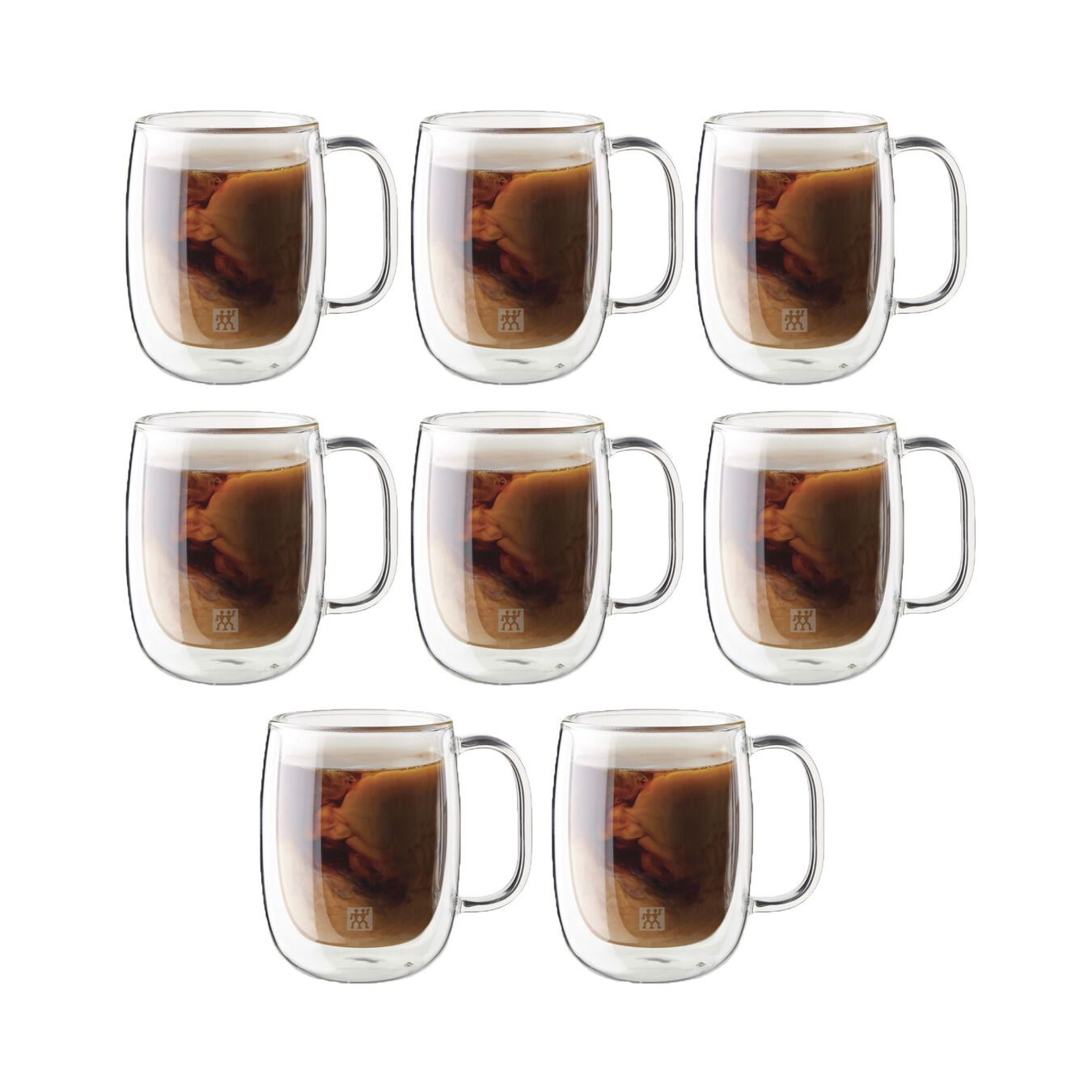 8 Piece Double-Wall Coffee Mug Set,,large 1