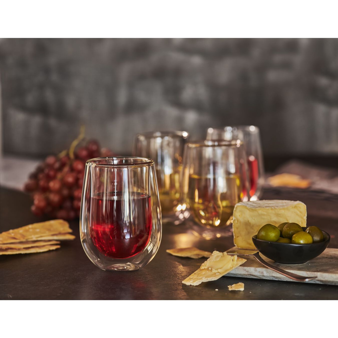 8-pc Double-Wall Stemless White Wine Glass Set,,large 3