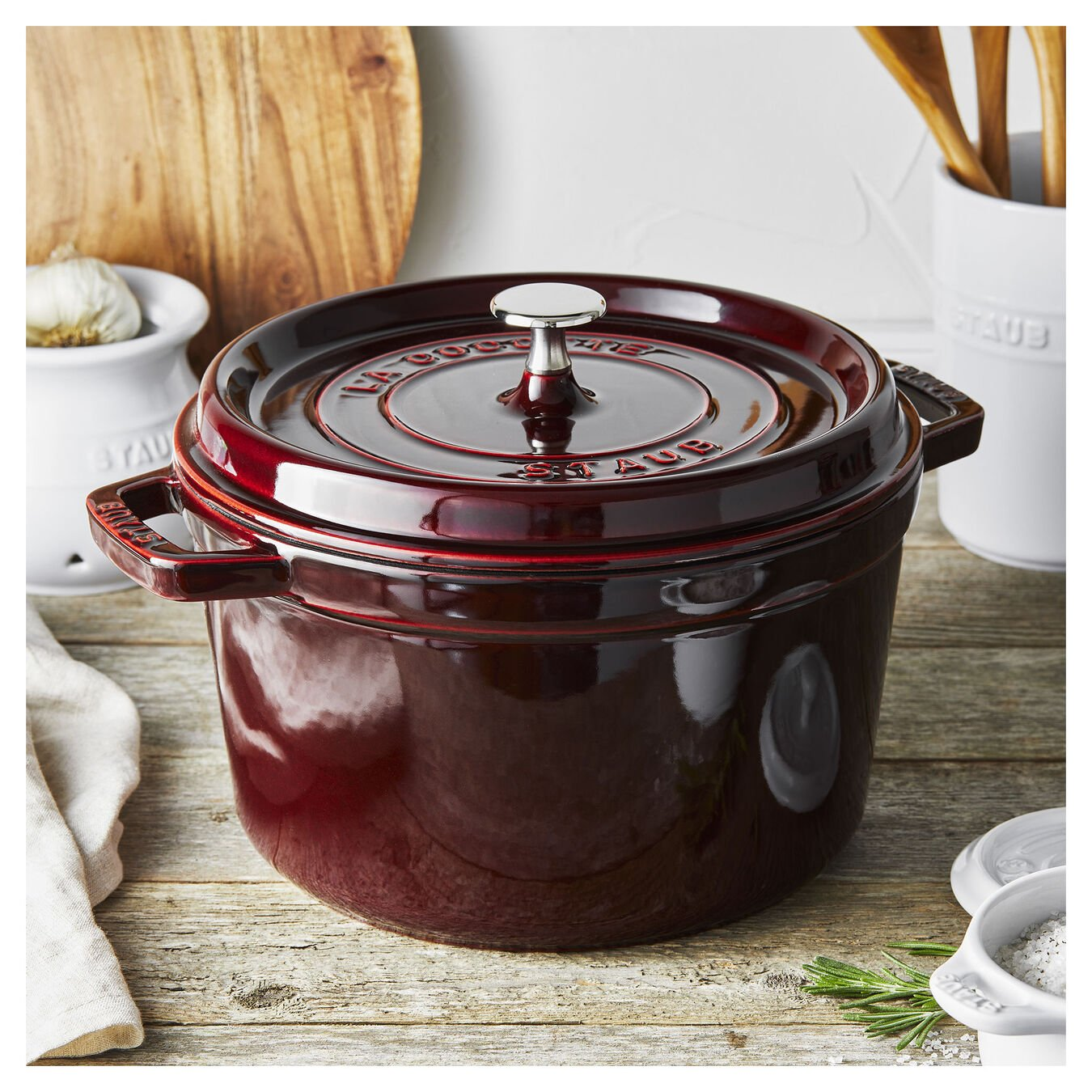4.8 l round Tall cocotte, grenadine-red,,large 2