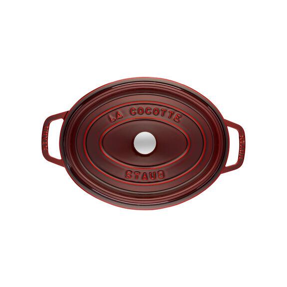 Döküm Tencere, 29 cm | Bordo | Oval | Döküm Demir,,large 2