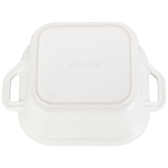9-inch x 9-inch Square Covered Baking Dish, Matte White, , large 3