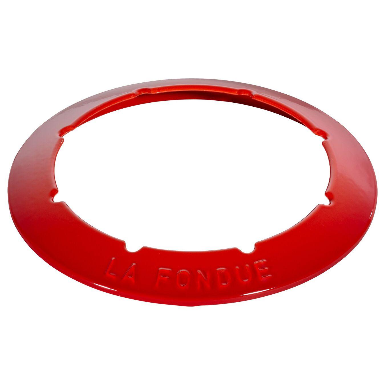 Fondue Set 20 cm, Kirsch-Rot,,large 8