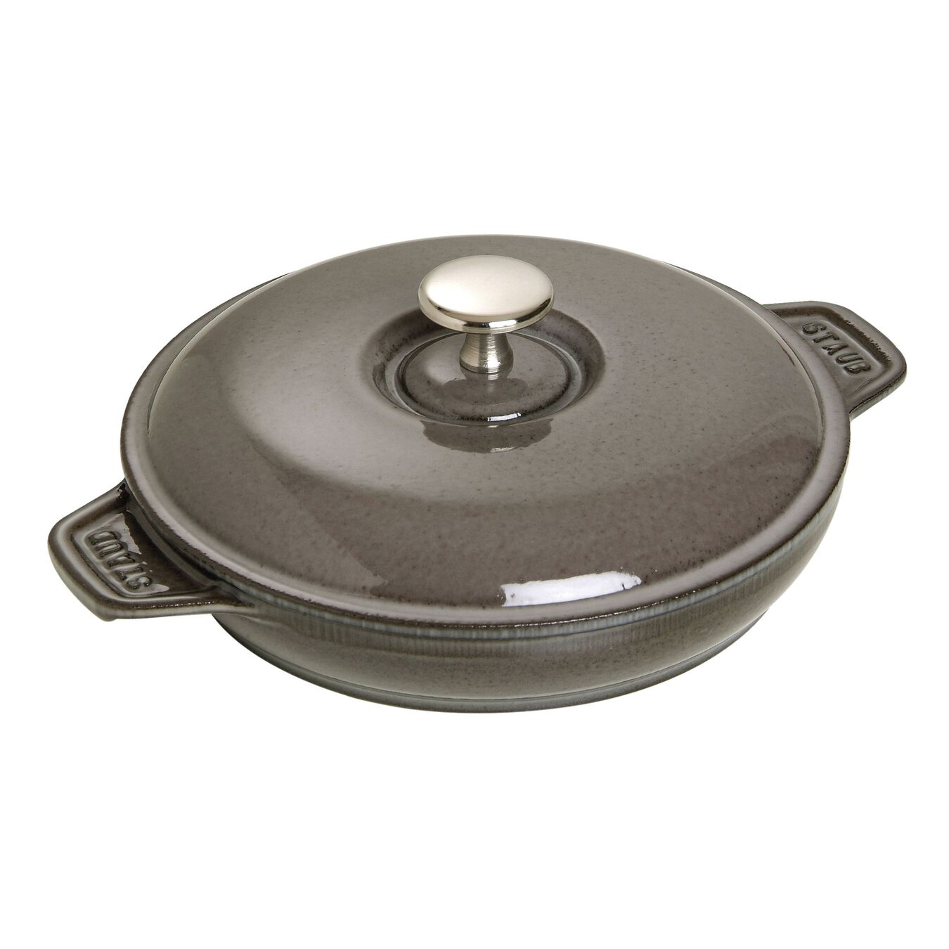 7.9-inch Round Covered Baking Dish - Graphite Grey,,large 1