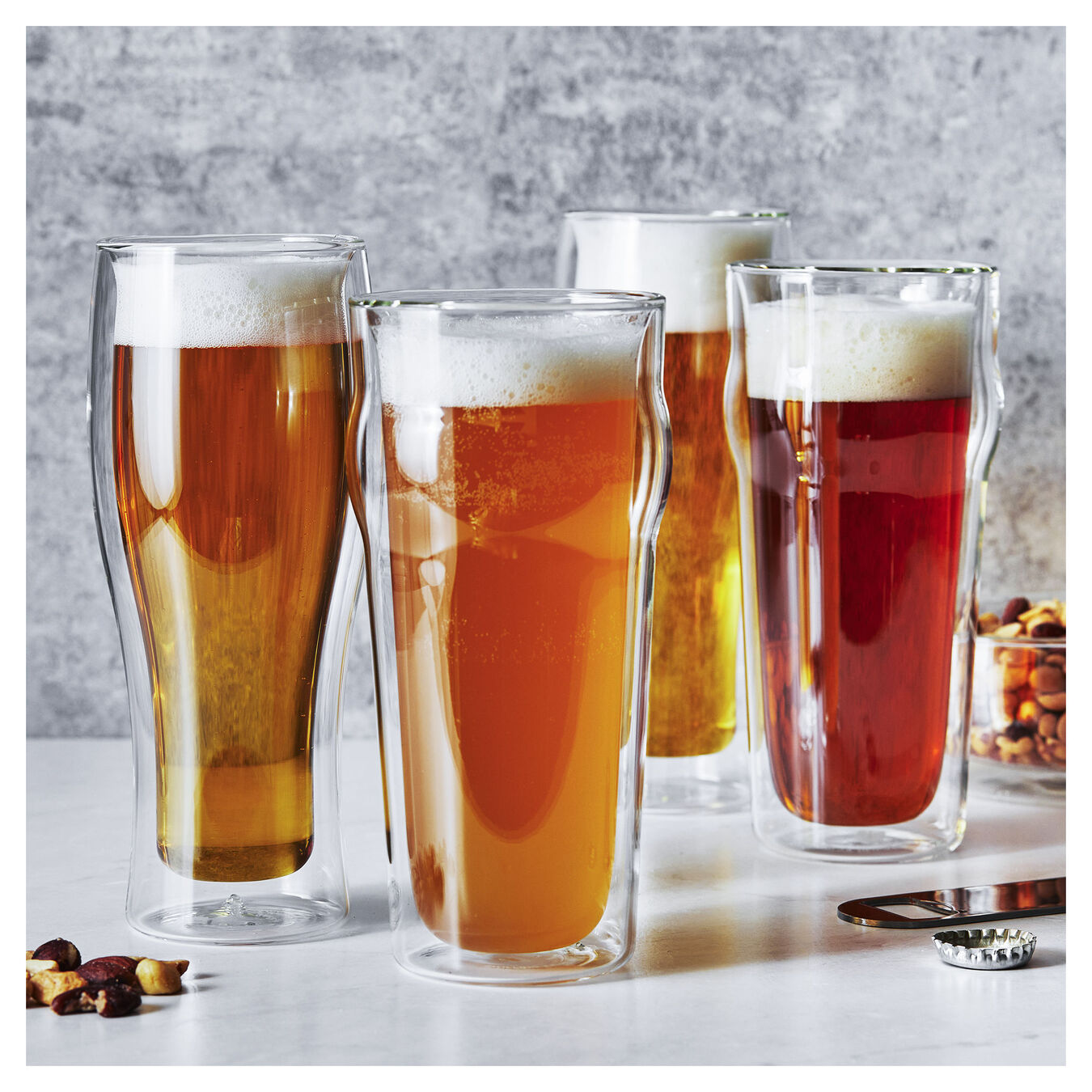 4-pc, Beer glass set,,large 10