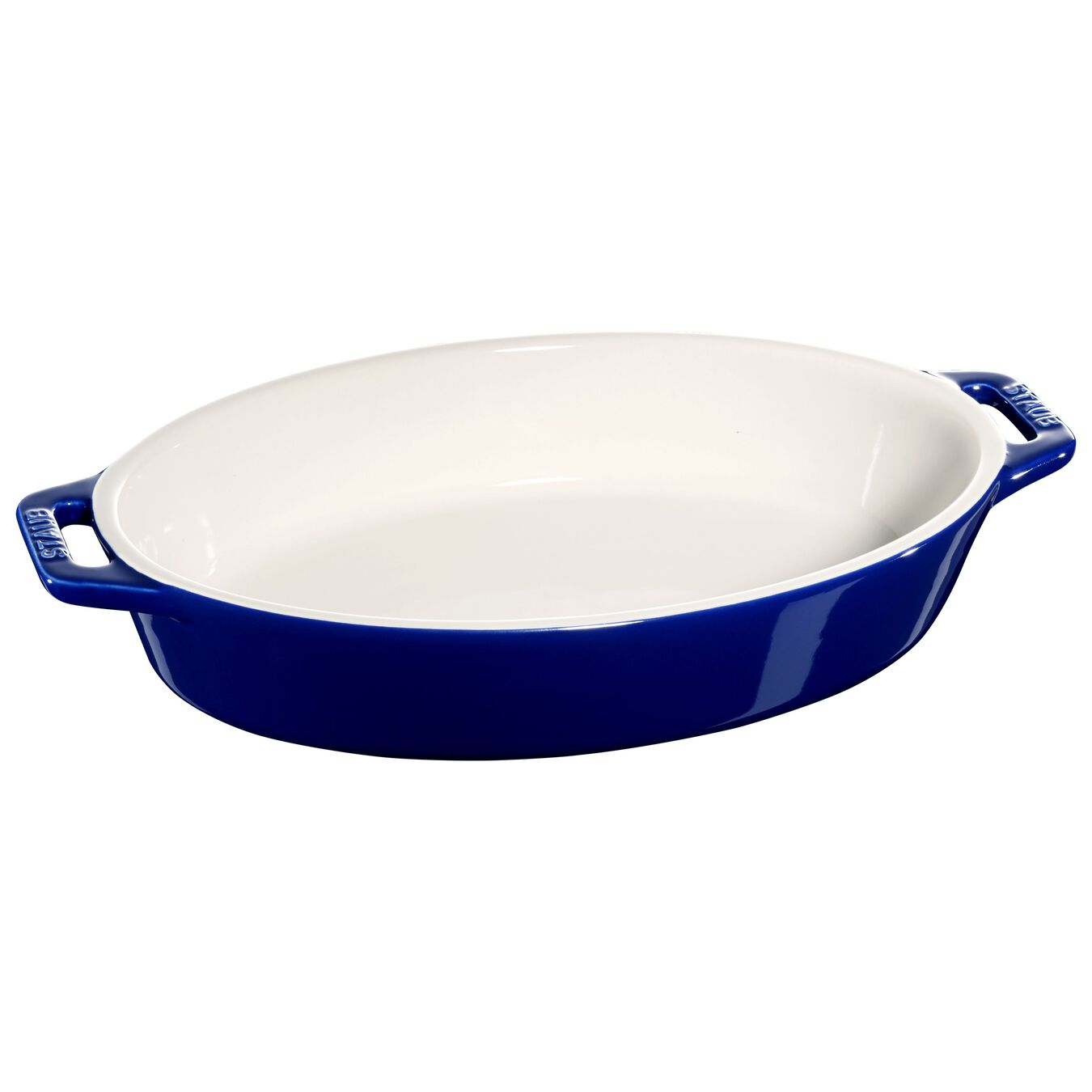 Ceramic oval Oven dish, Dark-Blue,,large 1