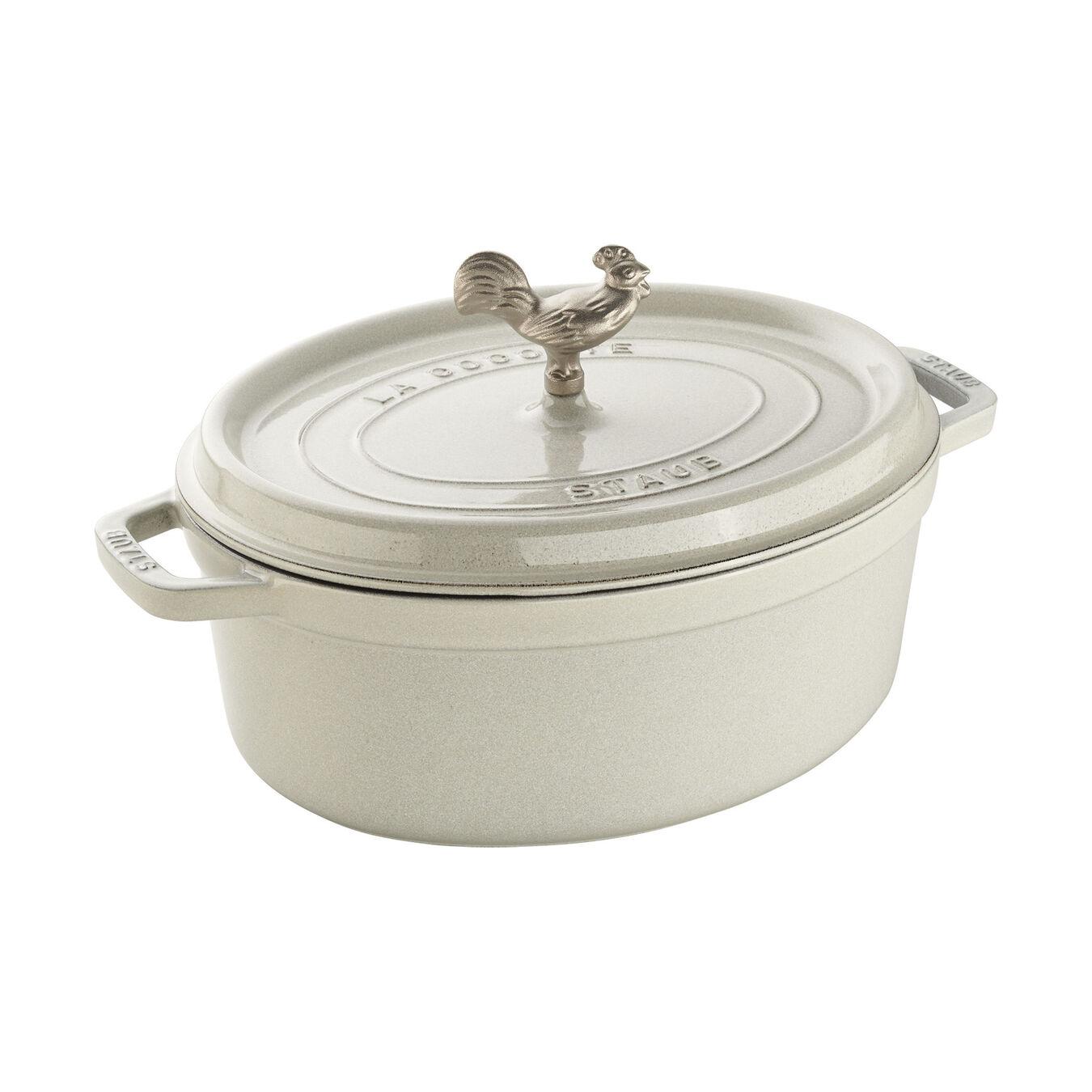 5.75-qt Coq au Vin Cocotte - White Truffle,,large 1