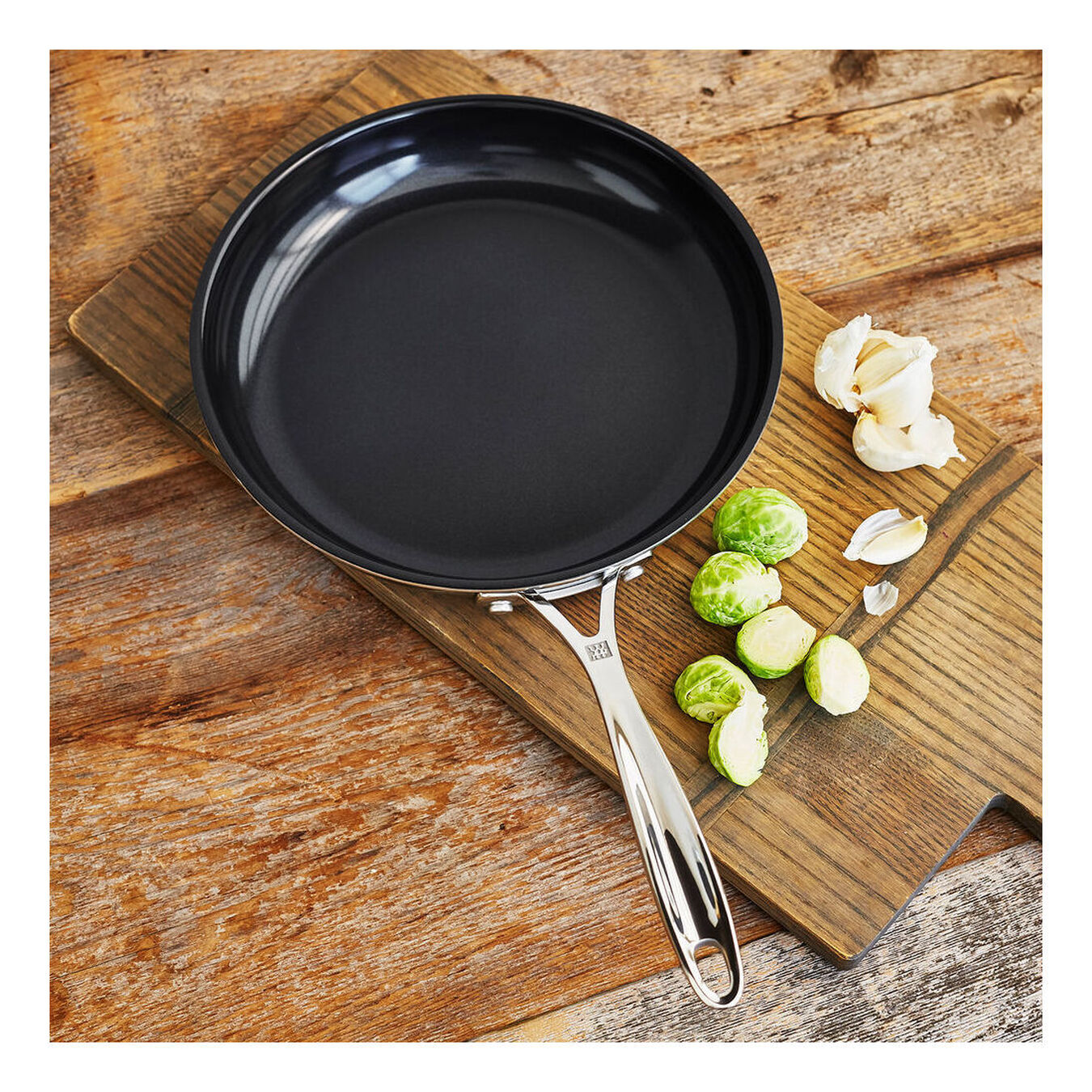 10-inch, 18/10 Stainless Steel, Non-stick, Frying pan,,large 1