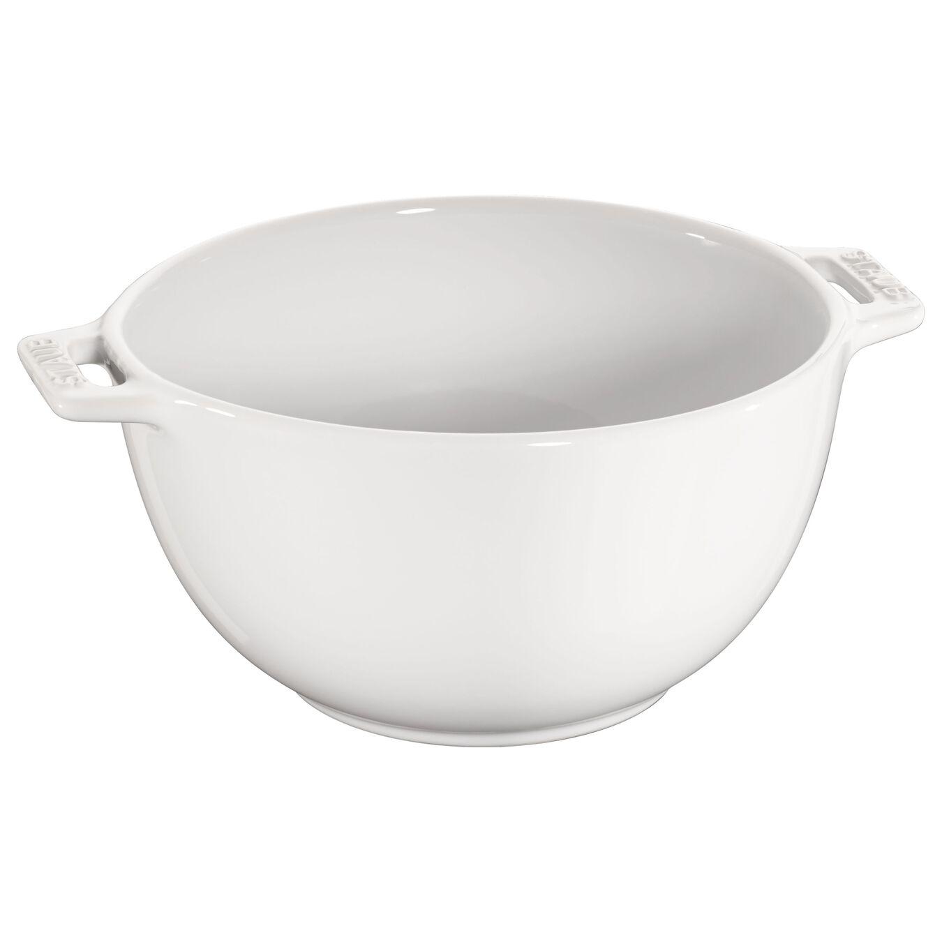 18 cm Ceramic round Bowl, Pure-White,,large 1