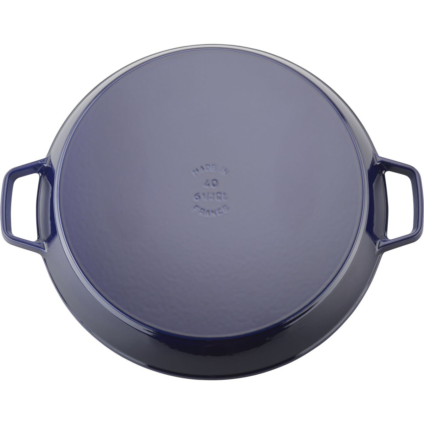 15.75 inch, Double Handle Fry Pan, dark blue,,large 3