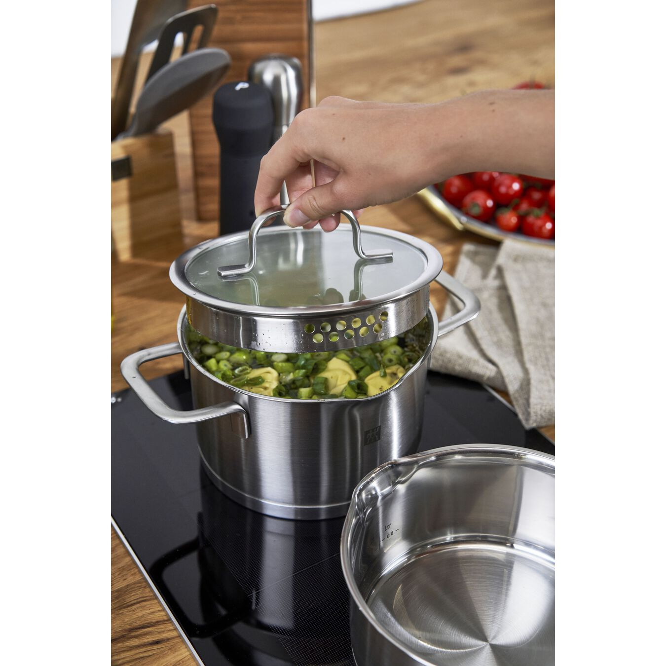 9 Piece Cookware Set , 5 Piece | round | stainless steel,,large 11