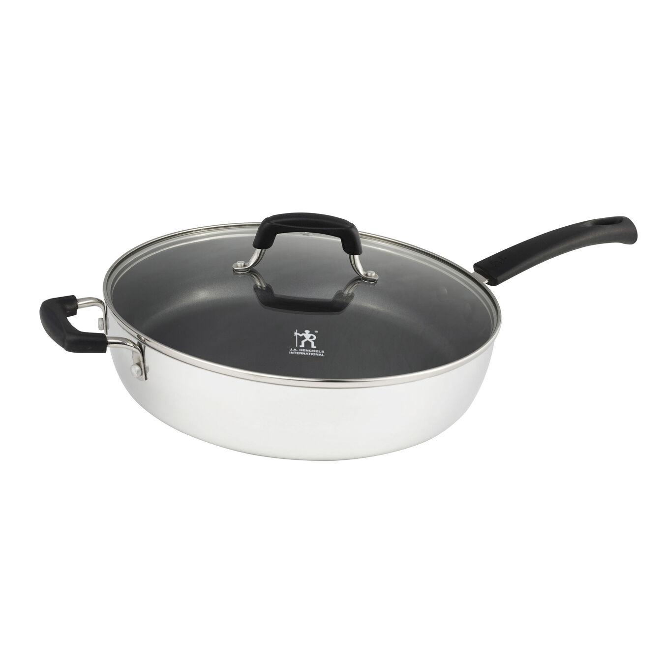 4.75 l Large Non-Stick Saute Pan with glass lid,,large 1