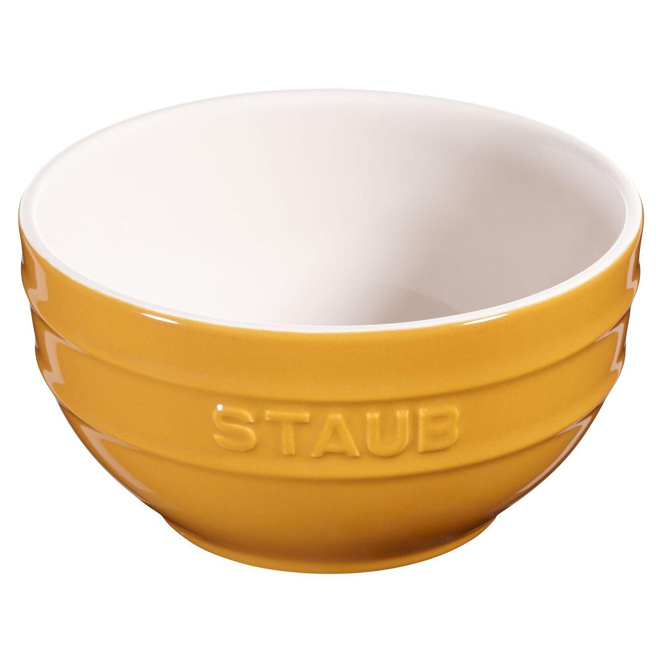 Schüssel 14 cm, Keramik, Senf,,large 2