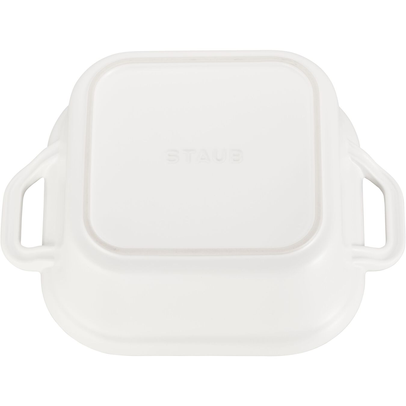 9-inch, square, Special shape bakeware, matte white,,large 3