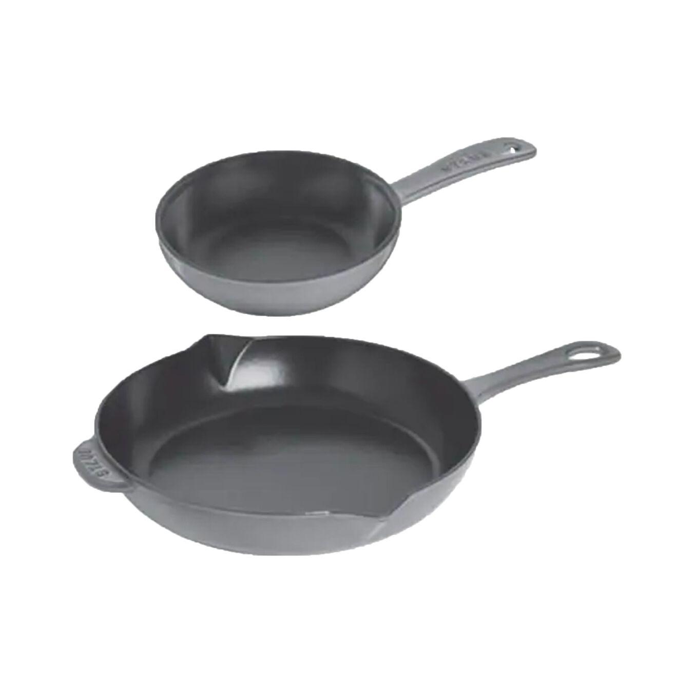 Frying pan set, 2 Piece | Round | Graphite-Grey,,large 1