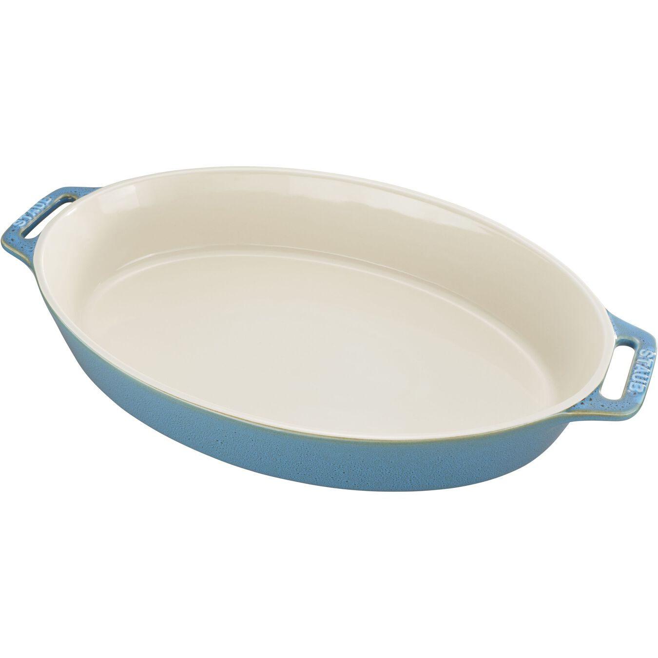14.5-inch Oval Baking Dish - Rustic Turquoise,,large 1