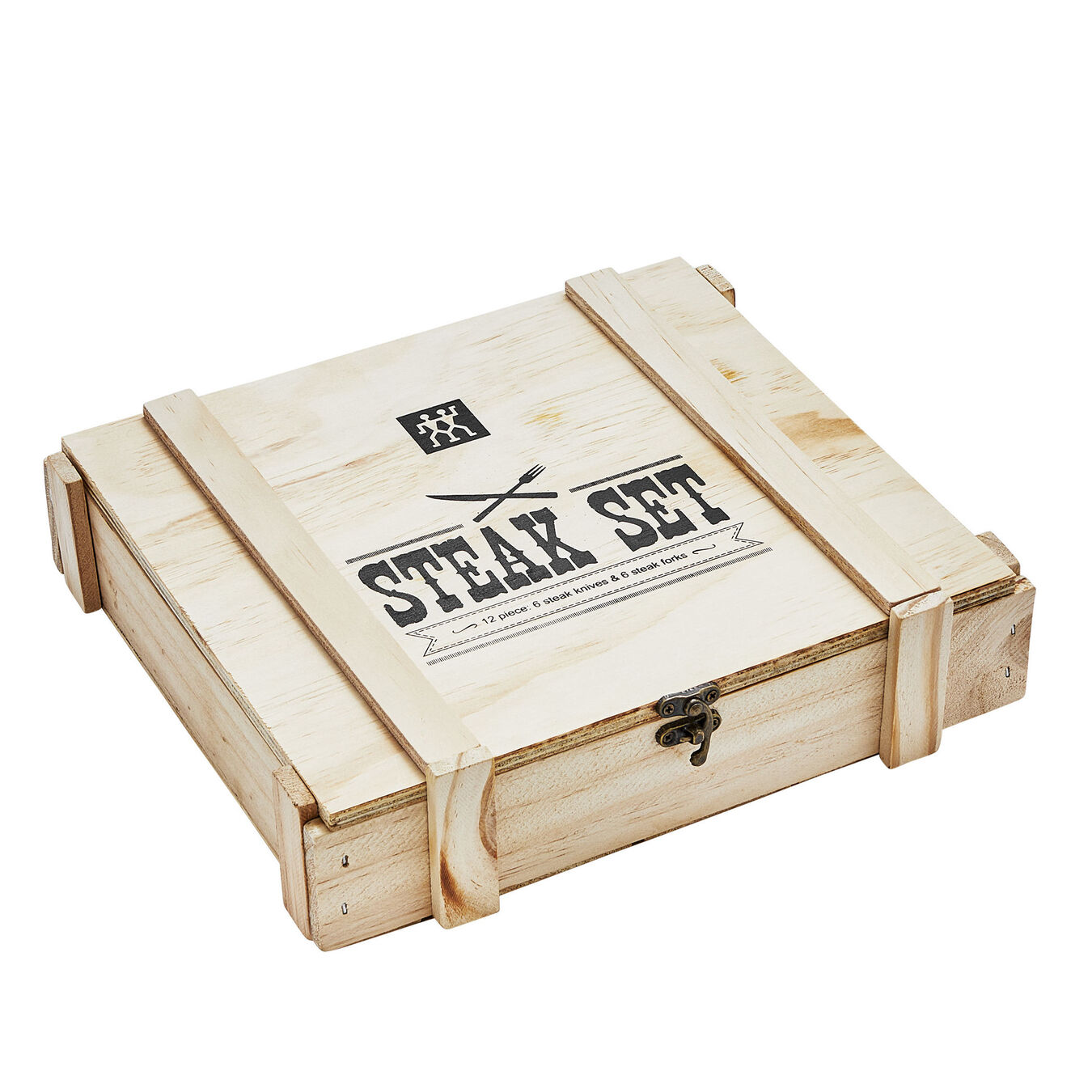 12-pc, 13/0 chrome steel Stainless Steel Steak Knife Set in Wood Presentation Box,,large 2
