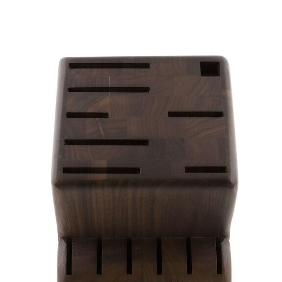 Knife block empty Walnut,,large 3