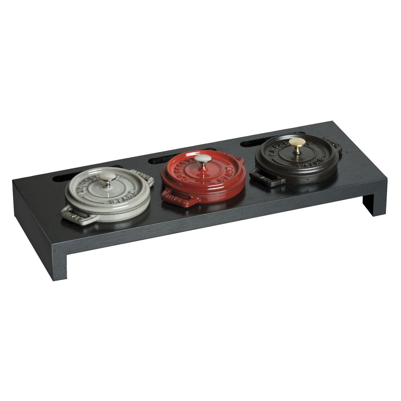 Fiber wood, Mini Cocotte Stand, black matte,,large 3