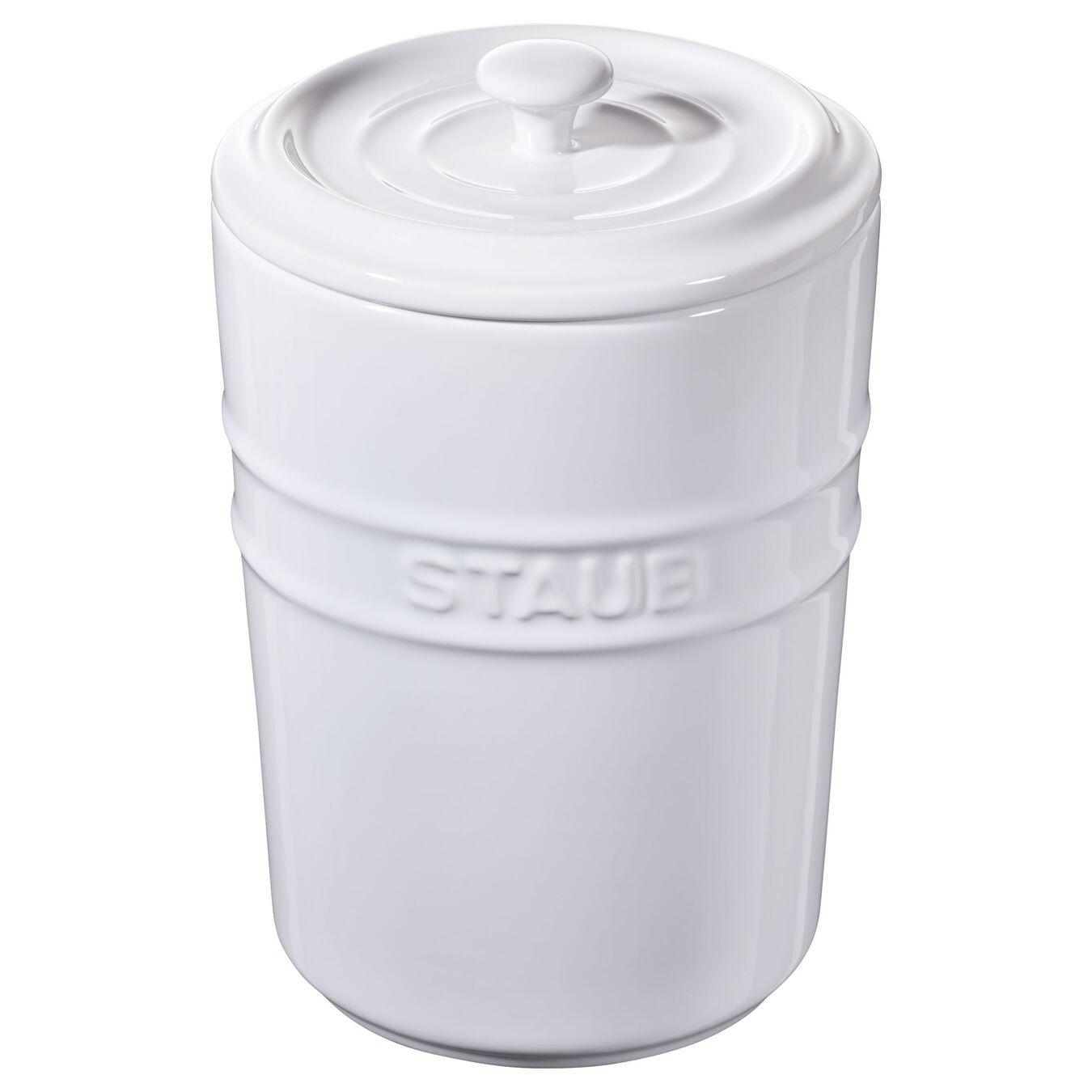 Pote de armazenagem 1 l, Cerâmica,,large 1