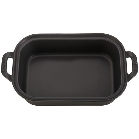 Ceramic Rectangular Covered Baking Dish, Black,,large 2